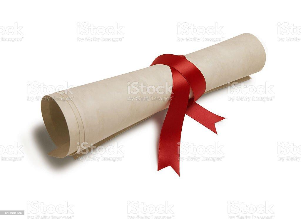 Diploma 4 stock photo