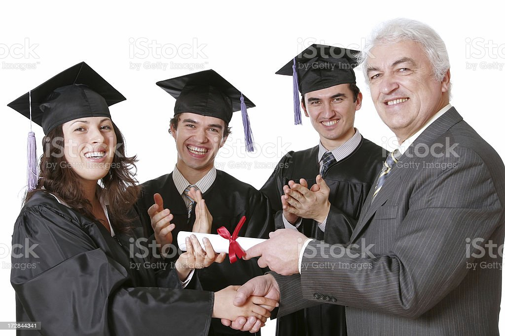 Diploma Awarding royalty-free stock photo