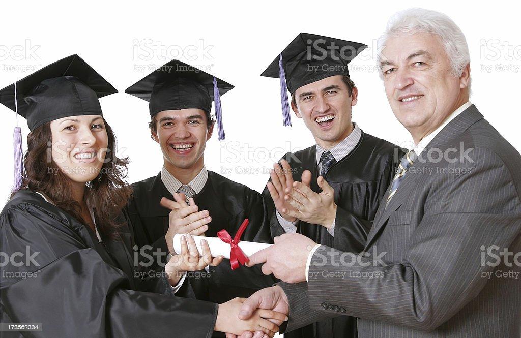 Diploma Awarding royalty-free stock photo