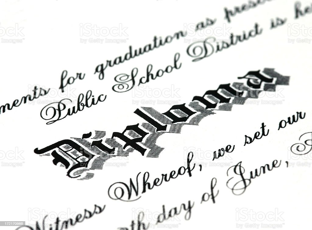 Diploma royalty-free stock photo