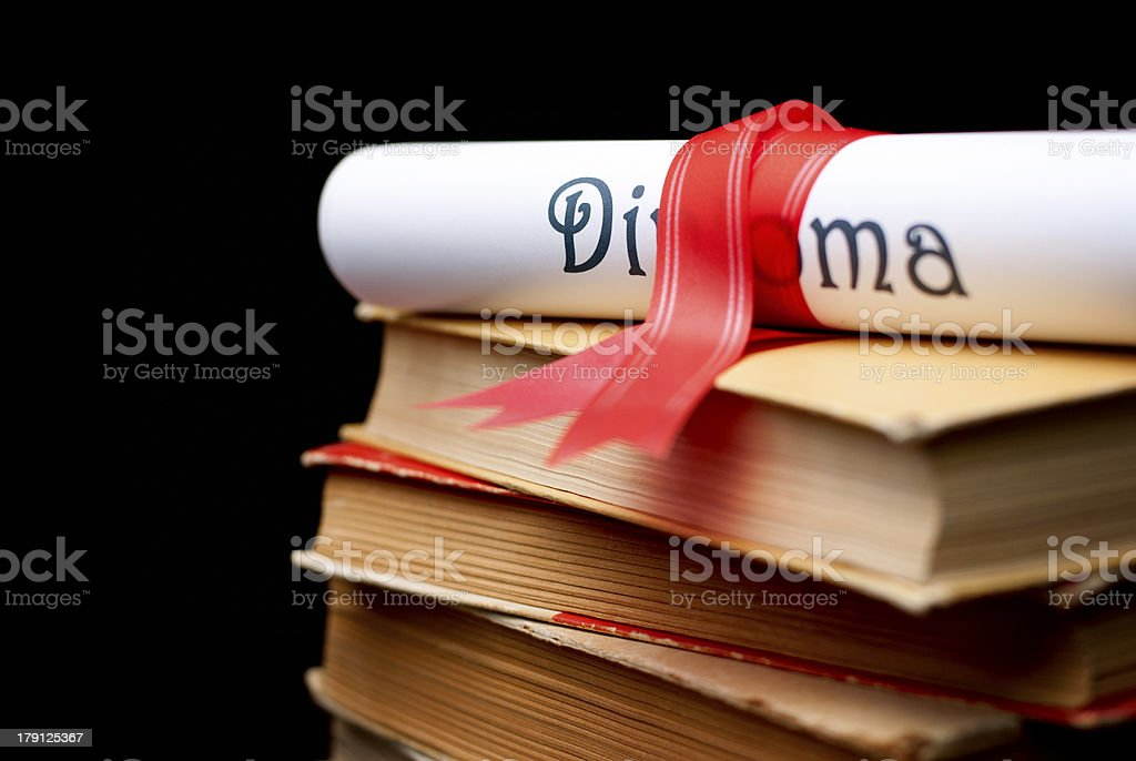 Diploma royalty-free stock photo