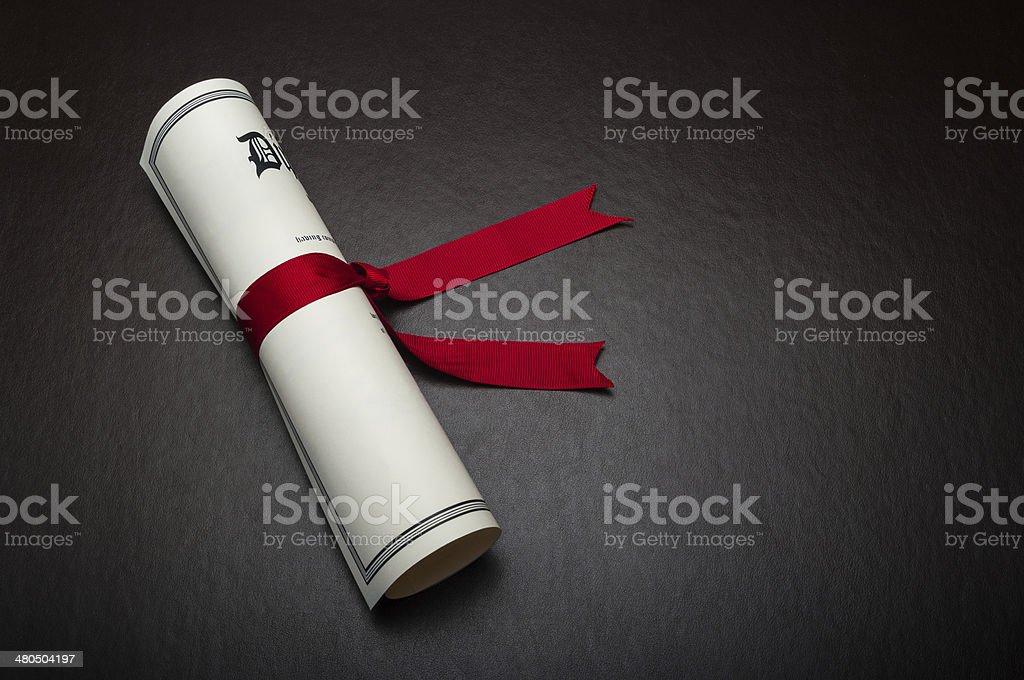 Diploma stock photo