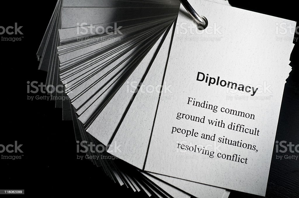 Diplomacy royalty-free stock photo
