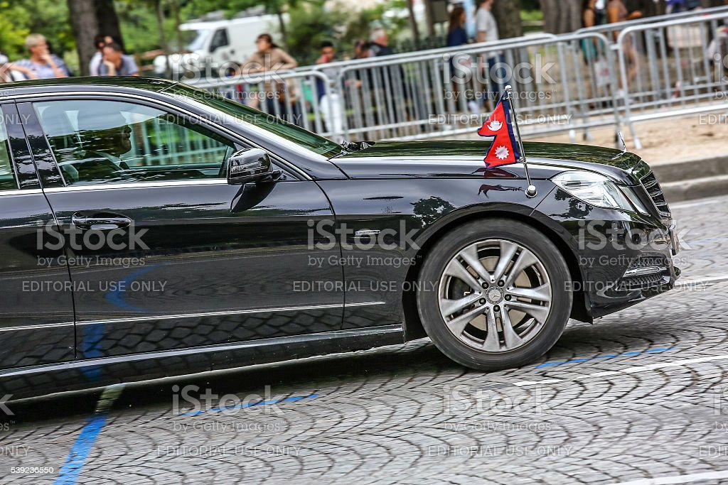 Diplomatic car during Military parade stock photo