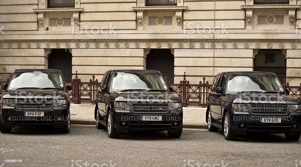 Diplomatic Cars stock photo
