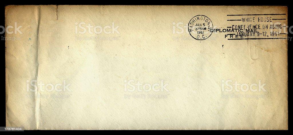 Diplomatic envelope on black royalty-free stock photo