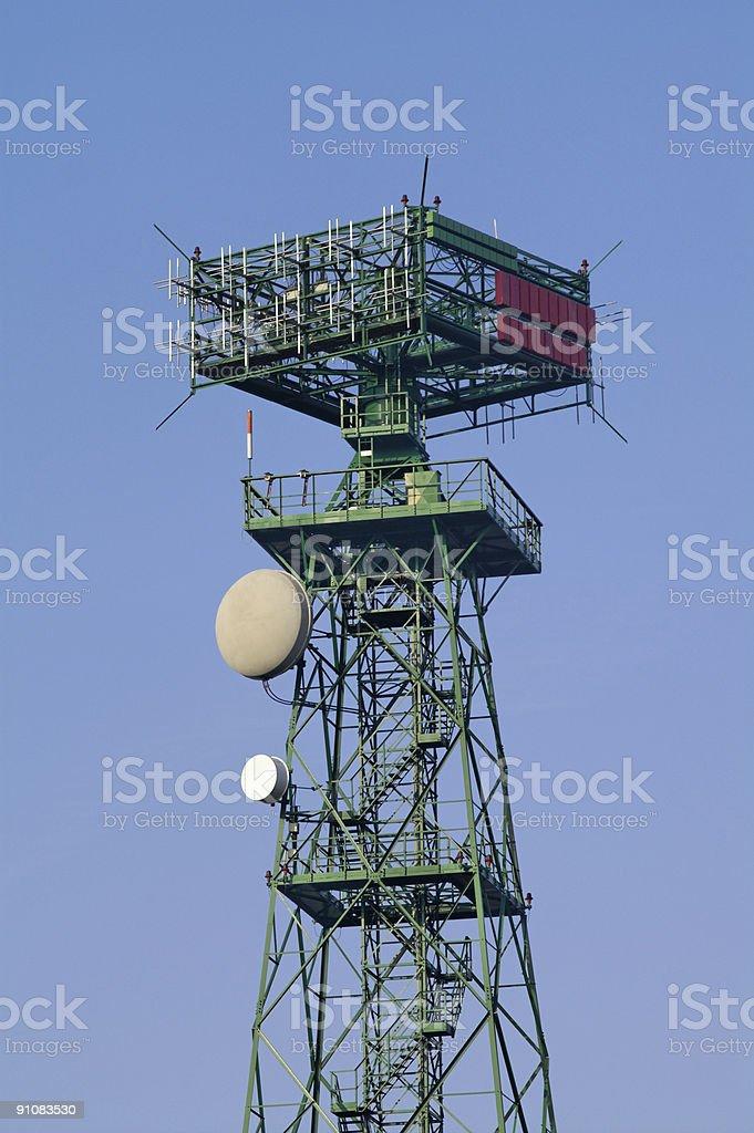 Dipole array microwave antenna stock photo