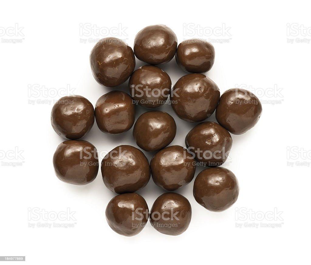 Dipped Chocolate peanuts stock photo