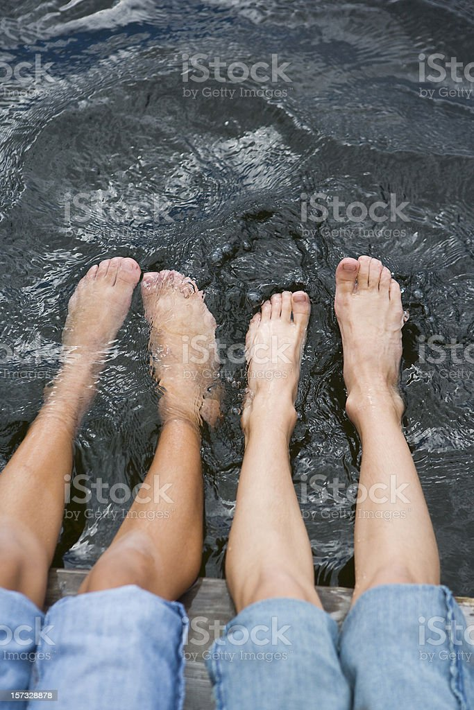 Dipping Toes royalty-free stock photo