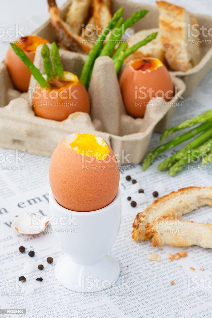 Dippy eggs stock photo