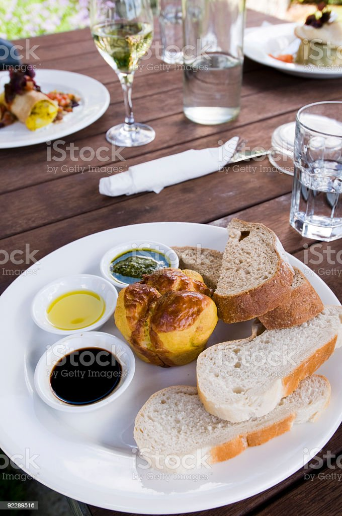 dips and bread royalty-free stock photo