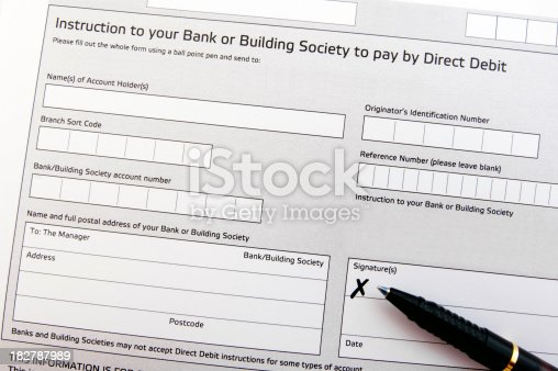Direct Debit Form Stock Photo   Istock
