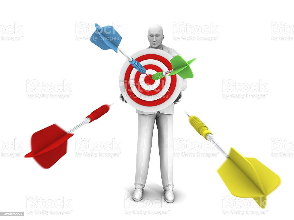 Direct Hits to Dart Target royalty-free stock photo