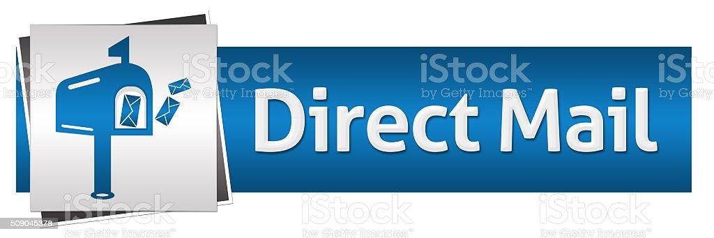 Direct Mail Blue Grey Horizontal stock photo