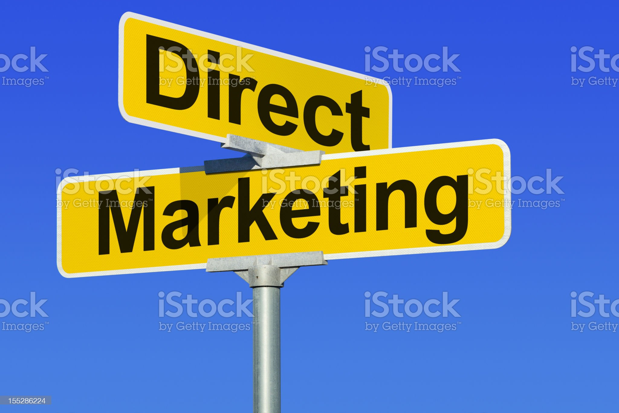 Direct Marketing Street Intersection Sign royalty-free stock photo