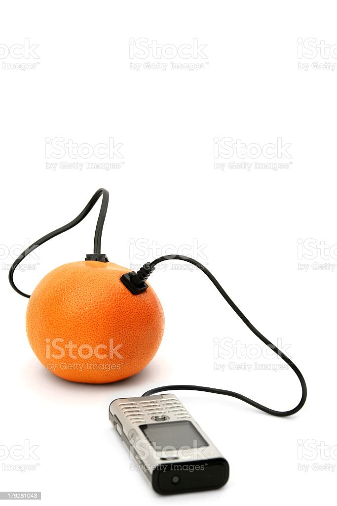 direct orange connection royalty-free stock photo