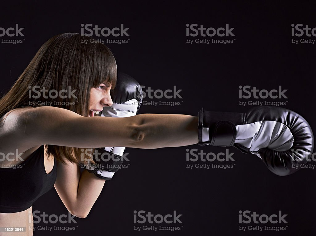 Direct punch royalty-free stock photo