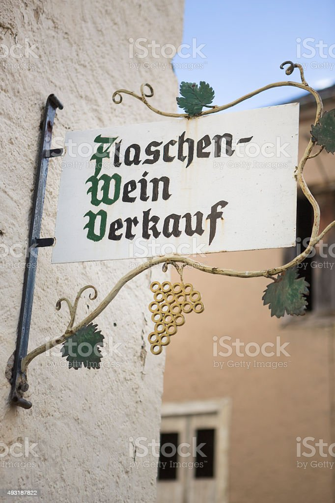 Direct Sale of Bottled Wine in the Mosel Rvier area stock photo