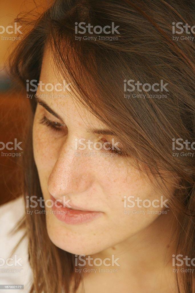 direct the eye downward stock photo