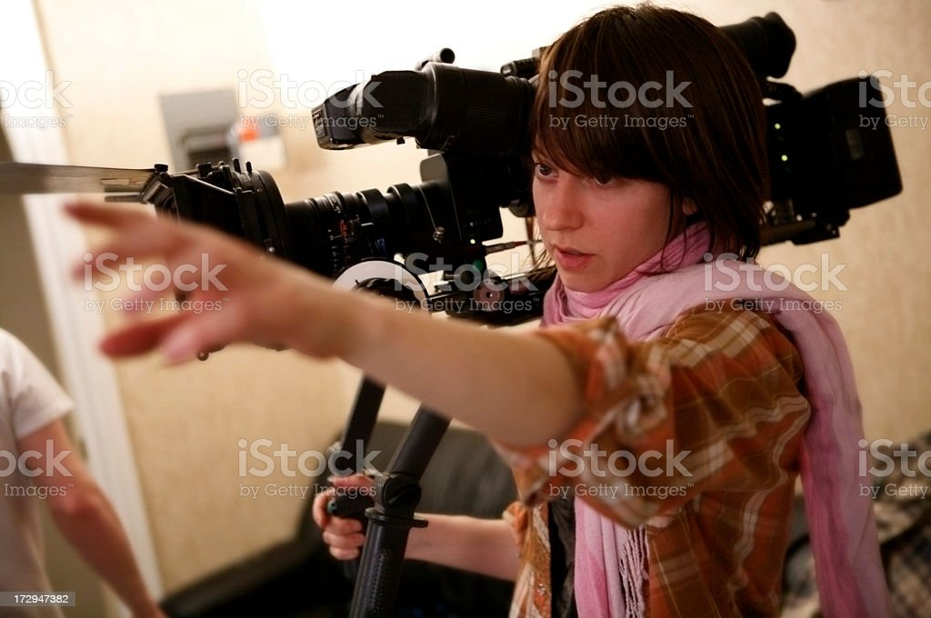 Directing the Shot royalty-free stock photo