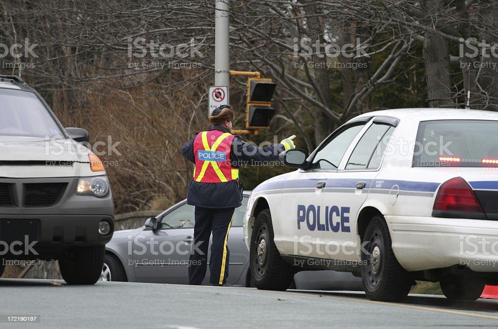 Directing Traffic stock photo