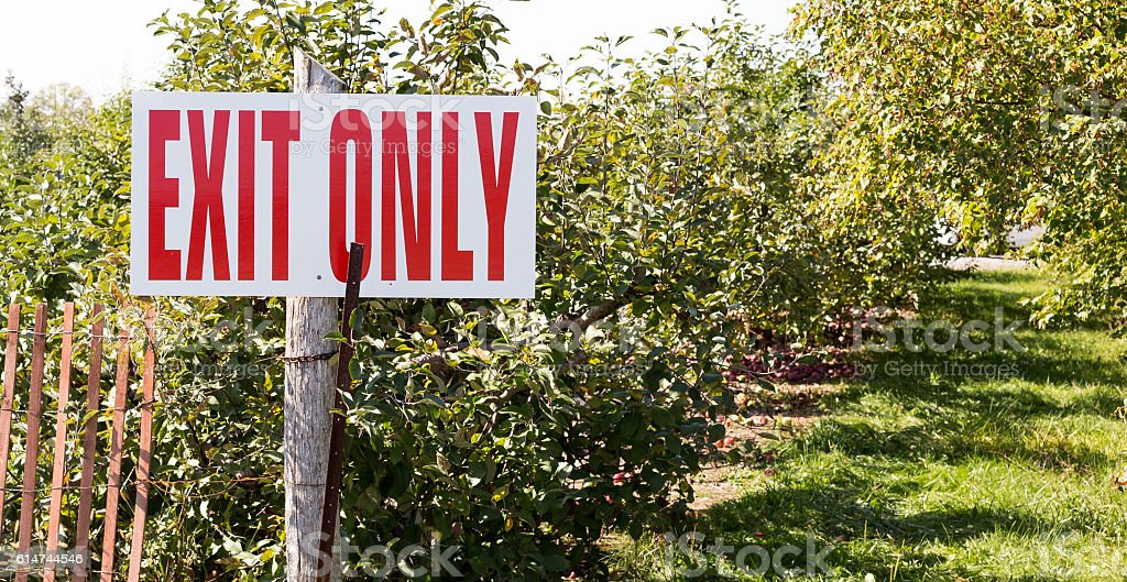Direction and exit only sign. royalty-free stock photo