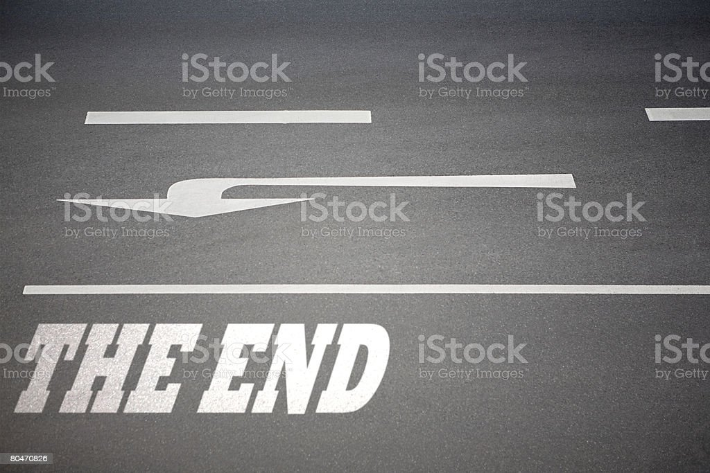 Direction arrow on the road royalty-free stock photo