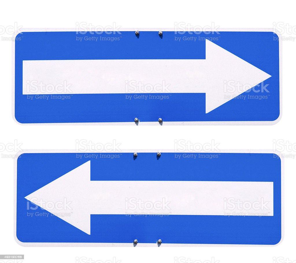Direction arrow sign stock photo