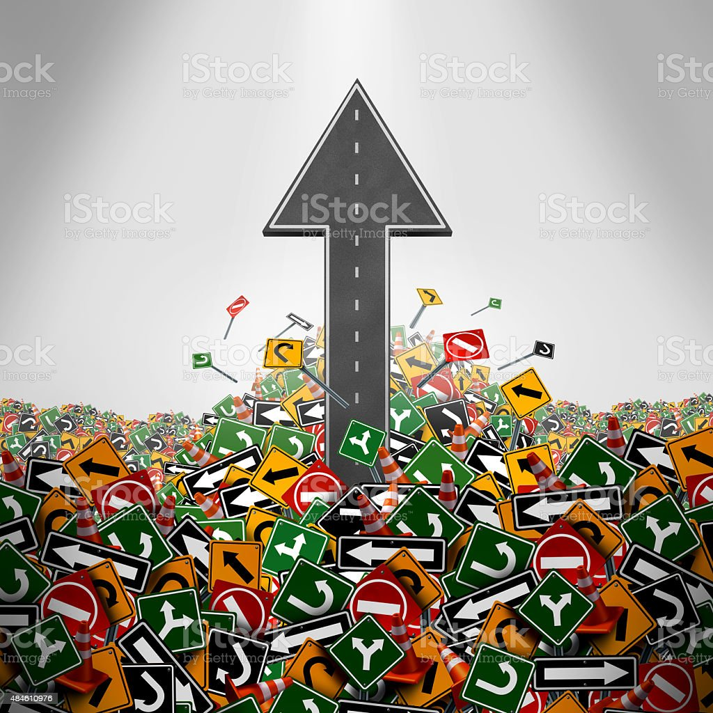 Direction Freedom Concept stock photo