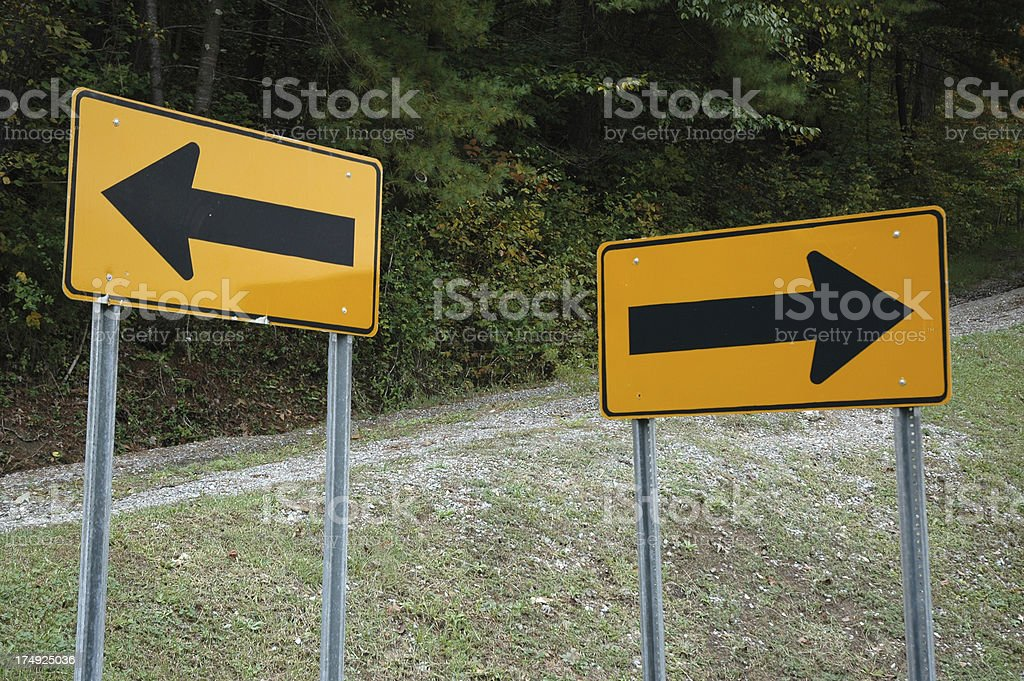 Direction - Indecision royalty-free stock photo