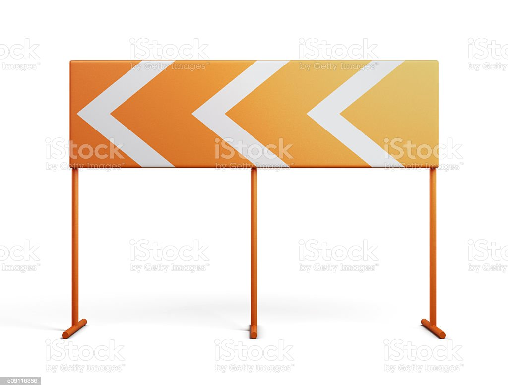 Direction indicator isolated on a white background. 3d rendering stock photo