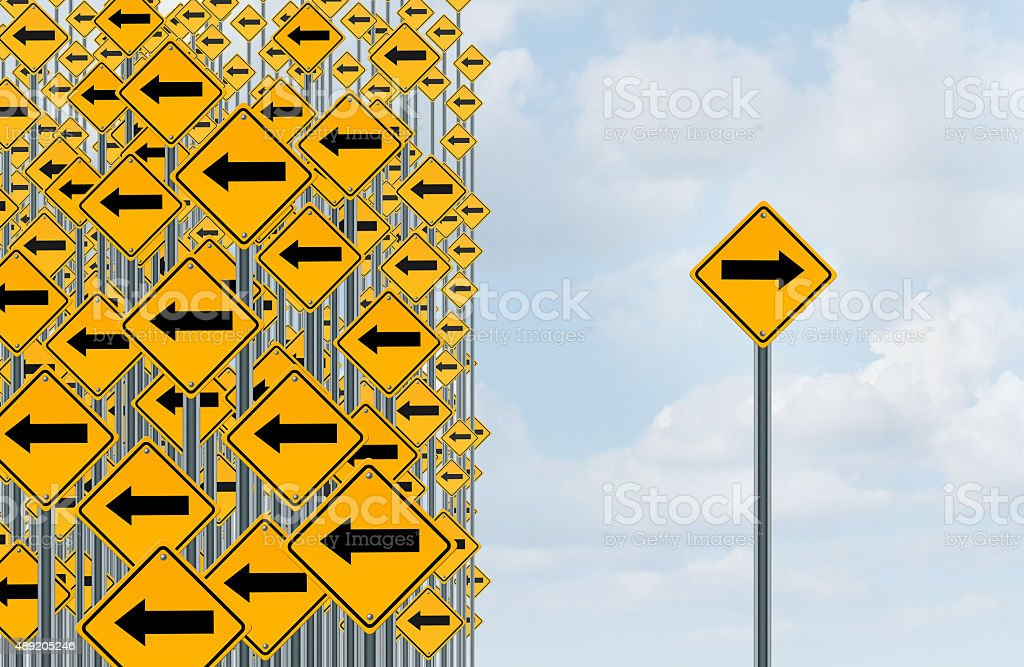 Direction Individuality stock photo