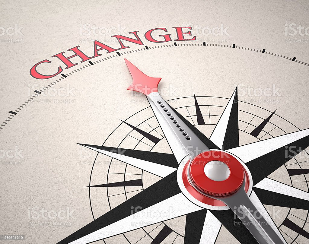 Direction of Change stock photo