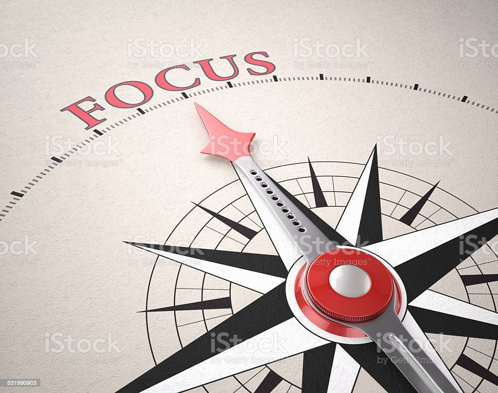 Direction of Focus stock photo