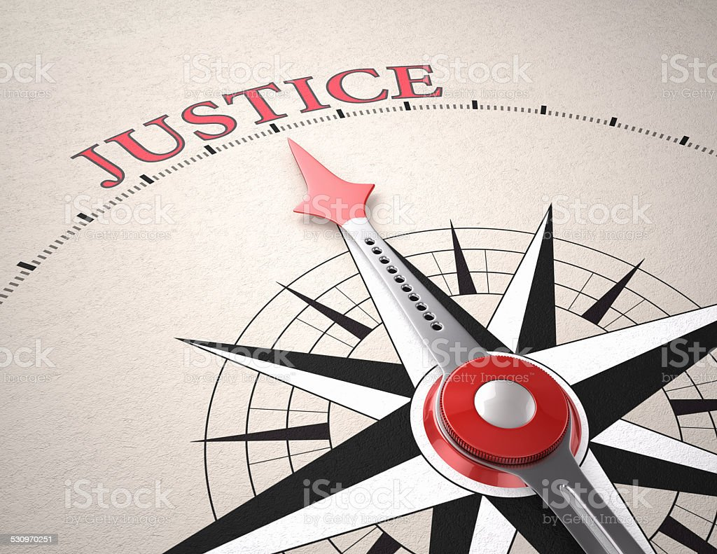 Direction of Justice stock photo