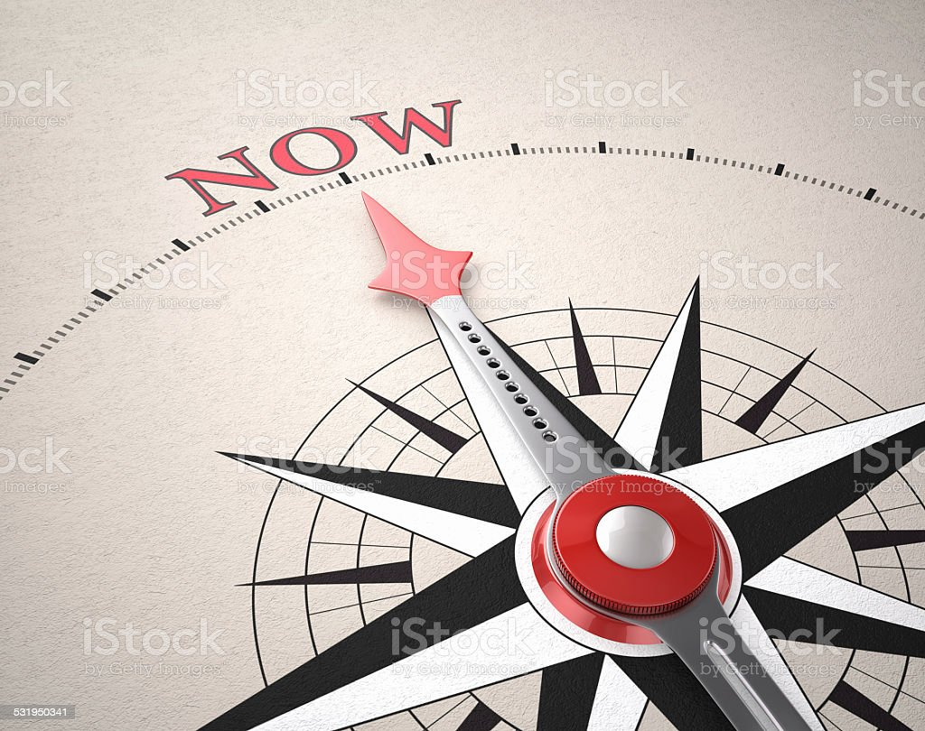 Direction of Now stock photo