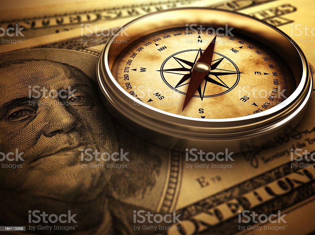 Direction of the Money royalty-free stock photo