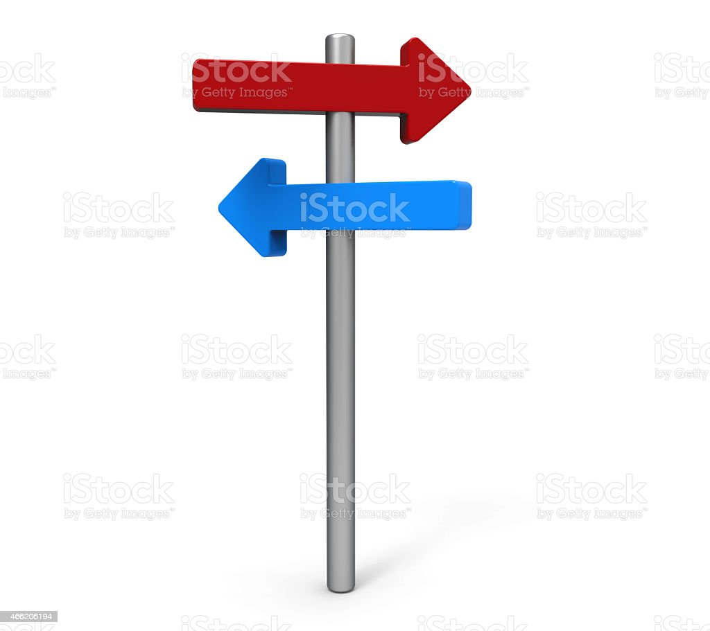 Direction, road sign stock photo