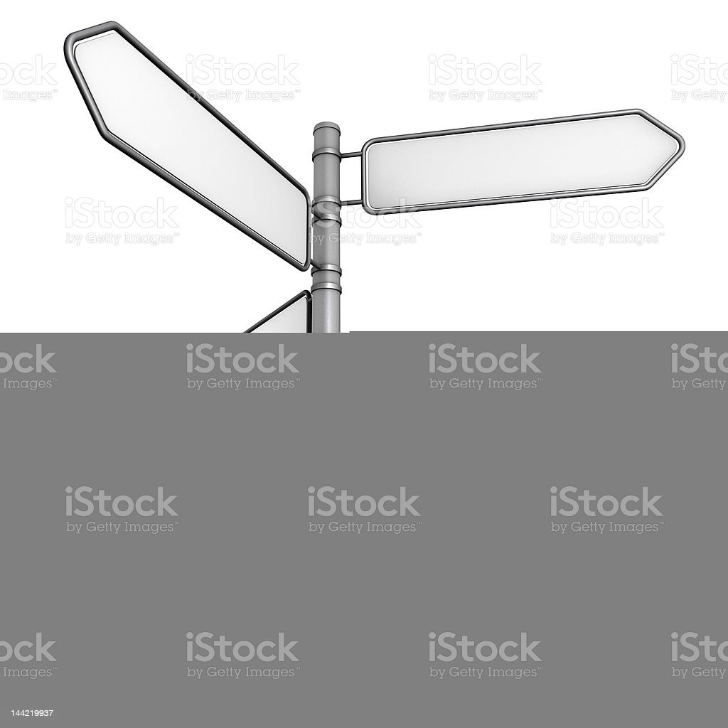 direction sign C royalty-free stock photo