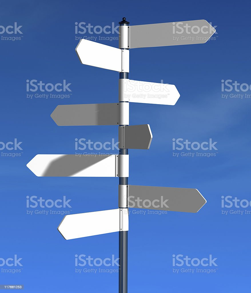 direction signs royalty-free stock photo