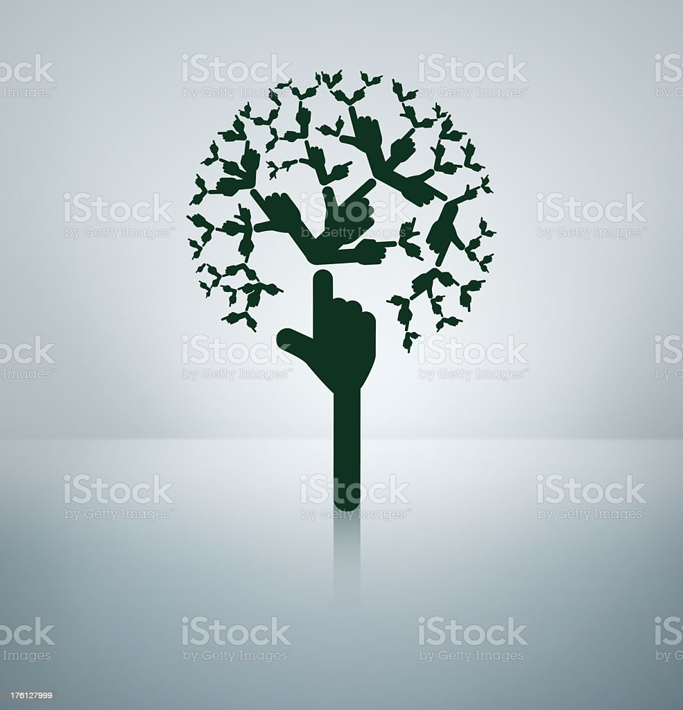 Direction Tree stock photo
