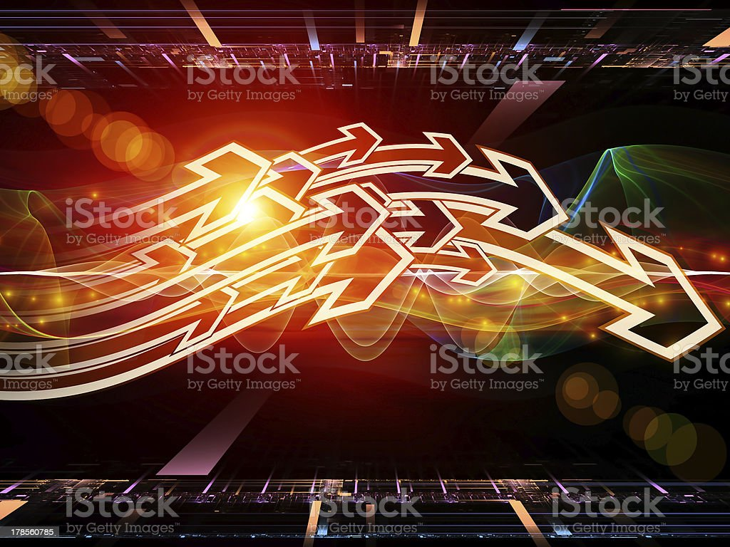 Directional Abstraction royalty-free stock photo