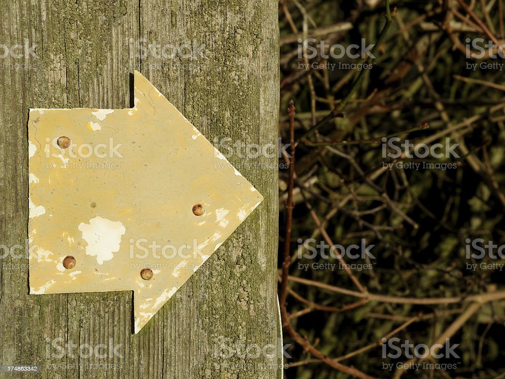 Directional arrow. royalty-free stock photo
