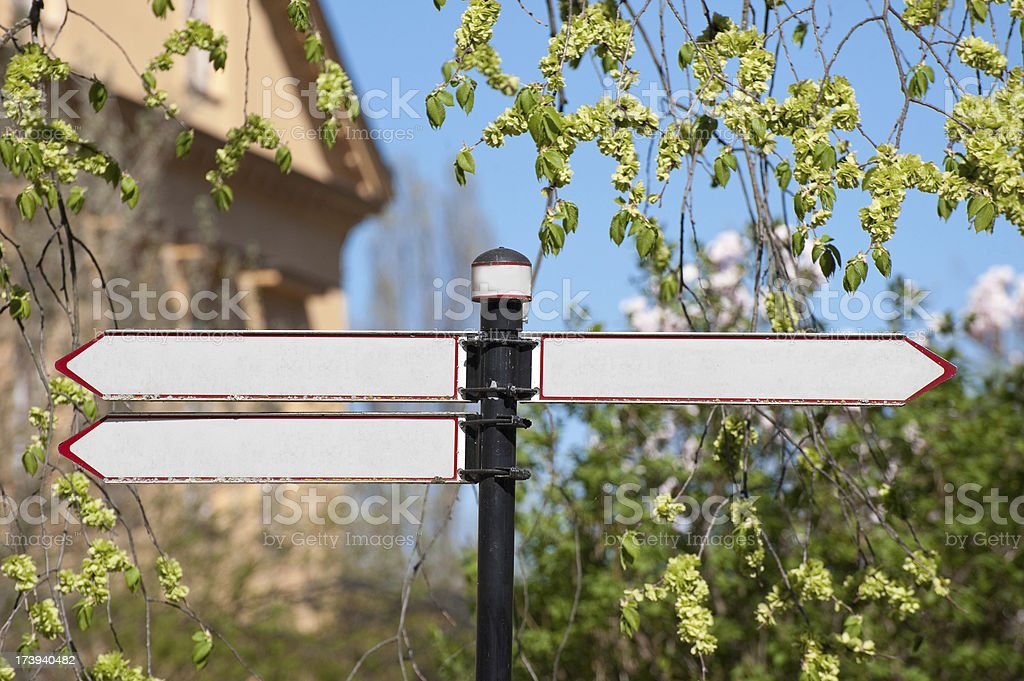 Directional arrow signs royalty-free stock photo