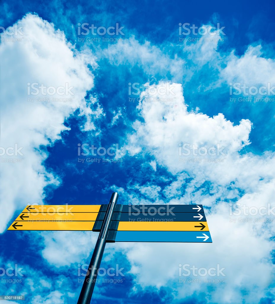 directional banners stock photo