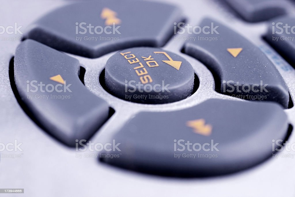 Directional push buttons royalty-free stock photo