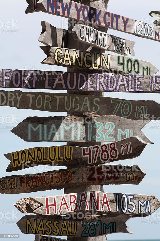 directional sign stock photo