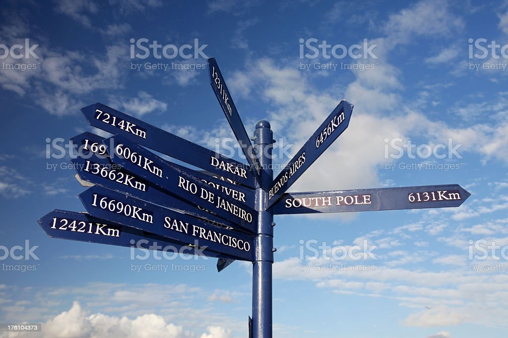 Directional Sign Post royalty-free stock photo