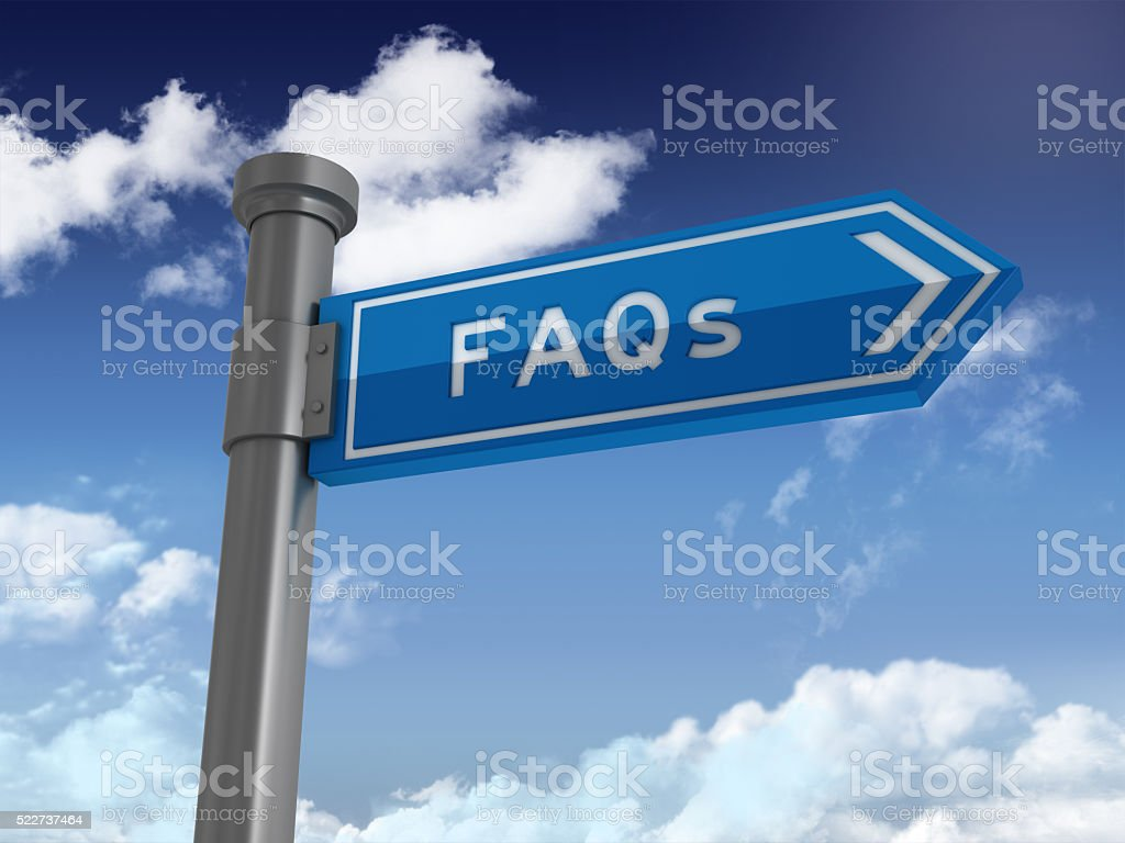 Directional Sign Series: FAQS stock photo