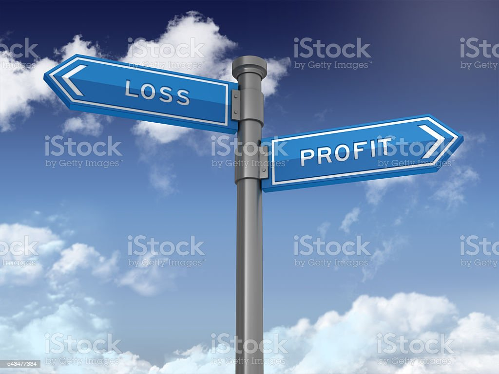 Directional Sign Series:  LOSS PROFIT stock photo